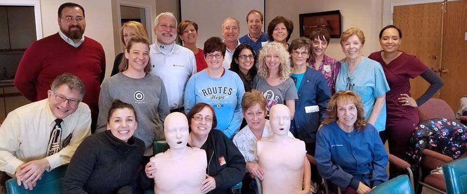 King of Prussia Dental Association members smiling after completing our CPR for Healthcare Providers course
